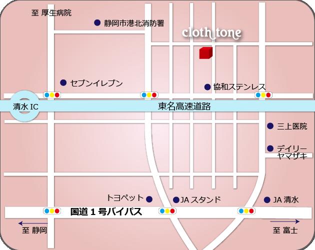 cloth toneの地図